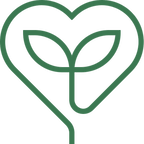 An icon of a heart with two leaves growing inside, representing Diane Liska's Yoga-Informed Psychotherapy services.